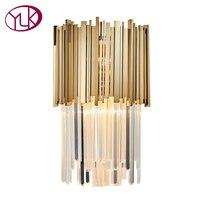 Youlaike современный светодио дный светодиодный настенный бра свет AC110 240V Креативный дизайн золото креативное украшение дома светильник прикр