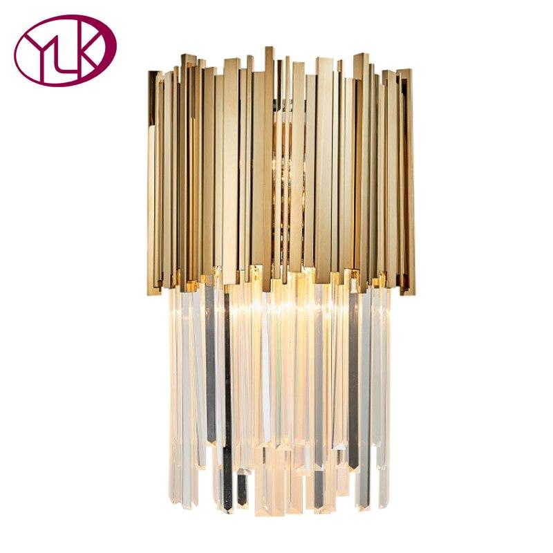 Youlaike Moderne LED Applique Lumière AC110-240V Creative Design Or Creative Décoration Luminaire Lampe De Mur De Chevet