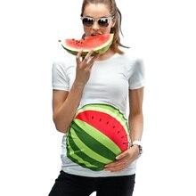 Напечатаны мама беременность футболки симпатичные лето беременных топы тонкий одежда женщин