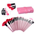 24pcs Professional Pink Cosmetic Foundation Eyeshadow Eyeliner Face Make Up Brush Pinceis de Maquiagem Tools Makeup Brushes Set