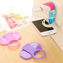 Cute Mobile Hanger Candy Color Wall Charger Hanger Convenient Cell Phone Holder