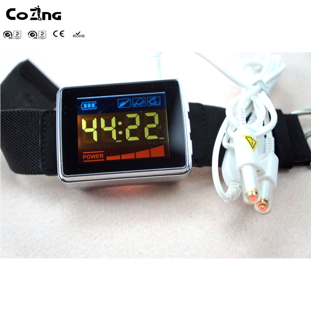 Medical laser high blood pressure and diabetes treatment laser therapy watch diode laser vascular therapy equipment home wrist type laser watch low frequency high blood pressure high blood fat high blood sugar diabetes therapy