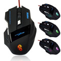 2015 nueva Pro 4000 DPI 6 botón 7 Color luz LED que cambia óptico USB con cable Gaming Mouse ratones para PC Laptop por mayor de escritorio