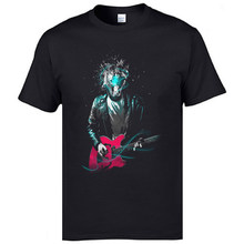 Excited Guitarist Rocky Cool T Shirts Mens Fashion Casual Print 3D Tee Shirt Oversized Tall Size Jazz Rock Band Music T-Shirts(China)