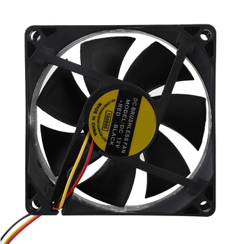 DC 12V 3 Lines Cooling Fan 80mm x 80mm x 25mm 3 Pin Plastic Universal Cooling Cooler PC CPU Fans Airflow For Computers image