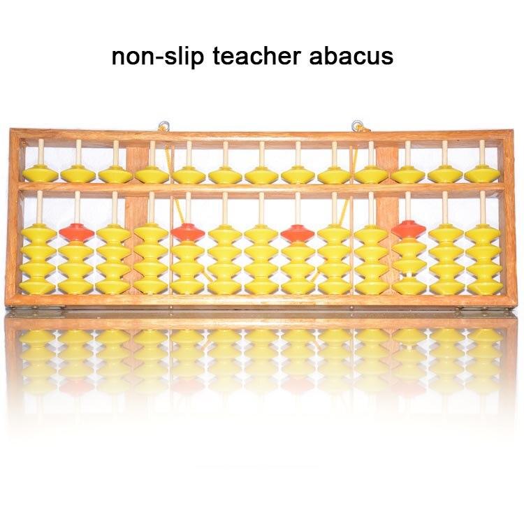 Haute qualité 13 colonne bois cintre grande taille NON-SLIP Abacus chinois soroban outil en mathématiques éducation pour enseignant XMF018