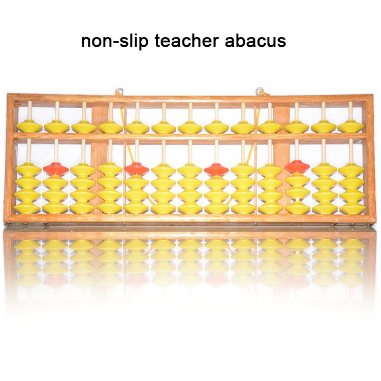 high quality 13 column wood hanger big size NON SLIP Abacus Chinese soroban Tool In Mathematics