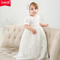 IYEAL Lace Baby Girl Dress Wedding First Birthday Dresses Outfit Baptism Christening Dress Child for Baby Girl Clothes 0 2 Years
