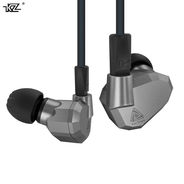Новый kz zs5 2ba + 2dd единиц сбалансированный якорь гибридный съемный в ухо наушники hifi спорт наушники наушник гарнитуры, наушников