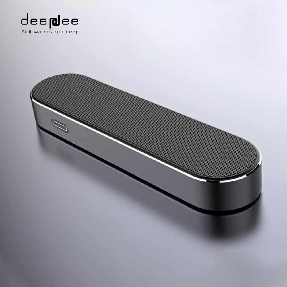 DEEPDEE Metal Wireless Bluetooth Speaker Colorful Portable Super Bass Music Loudspeaker with Microphone for Bluetooth Device