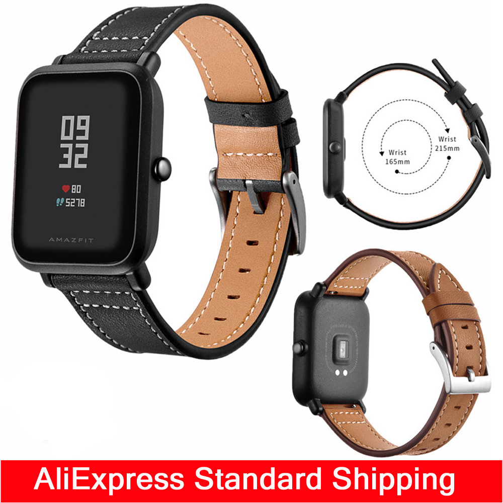 Leather strap For Original Xiaomi Huami AMAZFIT Pace BLT 4.0 Sports Smart Watch Ceramics Heart Rate Monitor band Replace belt strap