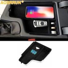 Мобильный телефон беспроводной зарядки в середине хранить содержимое коробки автомобильные аксессуары для BMW F30 F31 F32 F34 320 2012-2017 LHD
