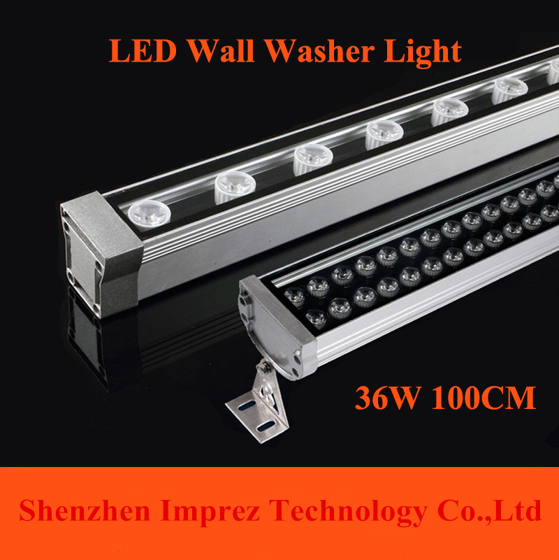 Free Shipping 1M 36W LED Wall Washer Landscape light  AC 85V-265V outdoor lights wall linear lamp floodlight 100cm wallwasher ultrathin led flood light 200w ac85 265v waterproof ip65 floodlight spotlight outdoor lighting free shipping