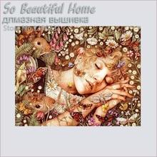 100% 5D Diy full  Diamond painting square drill rhinestone pasted crafts Needlework sleep womanSF332