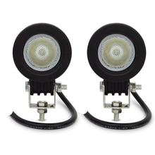 ECAHAYAKU 4pcs 2 inch 10w led work light offroad working lights spot/flood 12v 24v motorcycle 4x4 ATV SUV 4WD fog Driving lamp