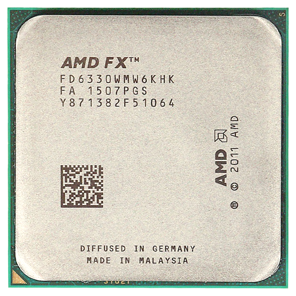 <font><b>AMD</b></font> FX 6330 3.6GHz Six-Core <font><b>CPU</b></font> Processor FD6330WMW6KHK Socket <font><b>AM3</b></font>+ image