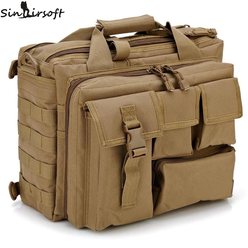Camuflaje impermeable ordenador mochila 14-pulgadas al aire libre senderismo mochila camping bolsa portátil Messenger bolso multifuncional Bolsas de agua