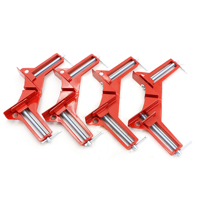 1pc 90 Degree Right Angle 100MM Mitre Clamps Corner Clamp Fixed Clamps Reinforced Woodworking Frame Clip silver tone 90 degree angle 125 x 80mm bladed try mitre square tool