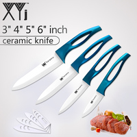 XYj Ceramic Cooking Knife Set High Grade ABS TPR Handle 3 4 5 6 White Blade
