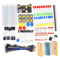 Free Shipping For Arduino Starter Kit Electronic Fans Kits Breadboard Cable Resistor Capacitor LED Potentiometer