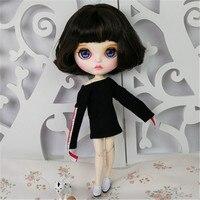 Новое поступление свободно настроенная кукла BJD с короткими черными волосами и сексуальное платье рубашка 30 см 12 дюймов BJD кукла для подарка