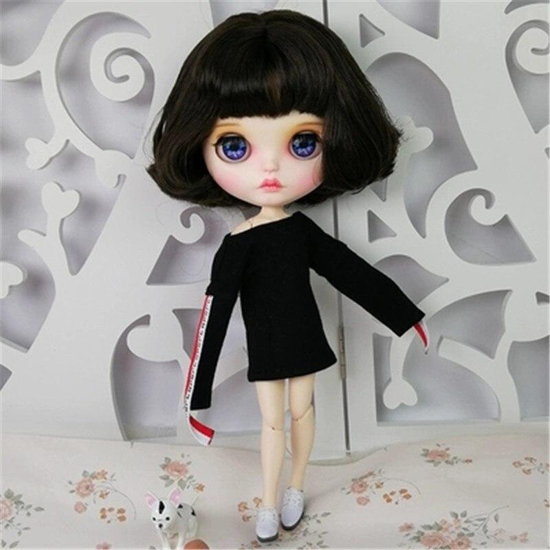 Nouveauté poupée BJD librement personnalisée avec des cheveux noirs courts et une robe Sexy de t-shirt 30 cm 12 pouces poupée BJD pour cadeau ou jouets de bricolage