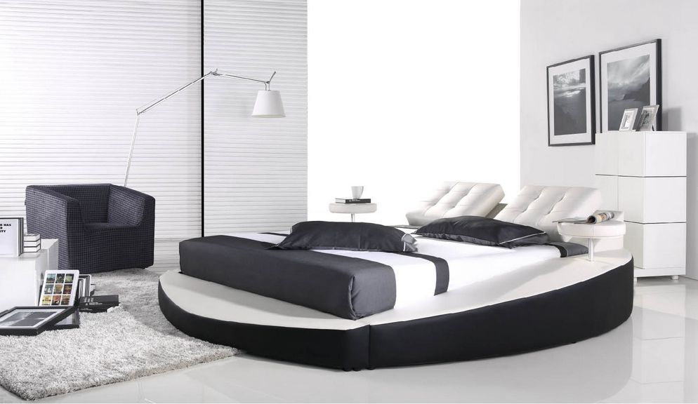 High quality leather bed soft bed modern bed bedroom furniture home furniture ls066 in beds from - Wit lederen bed ...