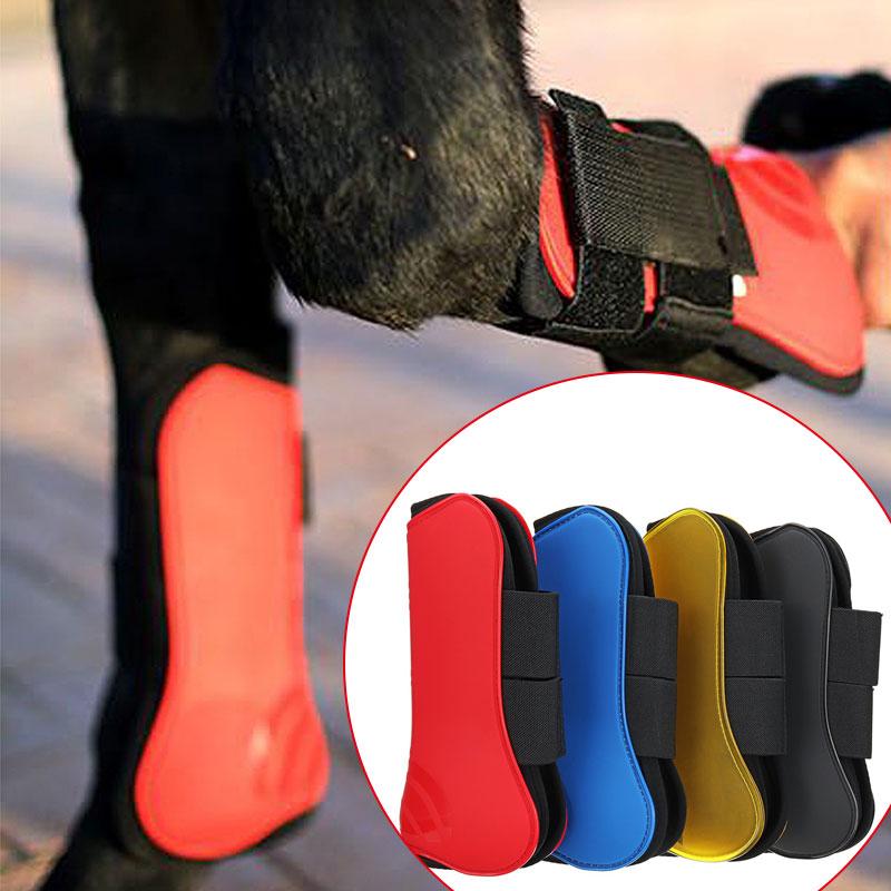 Horse Leg Guard PU 4 Colors Pet Protect Durable Riding Equestrian Boots Jump
