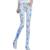 2017 Nuevas Mujeres de La Moda de Mediados de Cintura de la Impresión Floral Lápiz Pantalones Vaqueros Delgados Femeninos Pantalones Vaqueros Flacos Elásticos de Los Estudiantes
