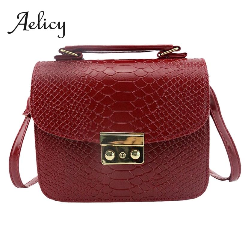 Aelicy Handbag Tote-Bag Crossbody-Shoulder-Bag Square Satchel Fashion Alligator-Pattern