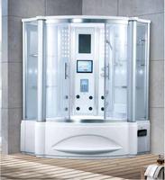 1500X1500X2200 мм Ванная комната угол стены паровая кабина ТВ/DVD мульт функциональный компьютер Управление мокрой сауне 7062B