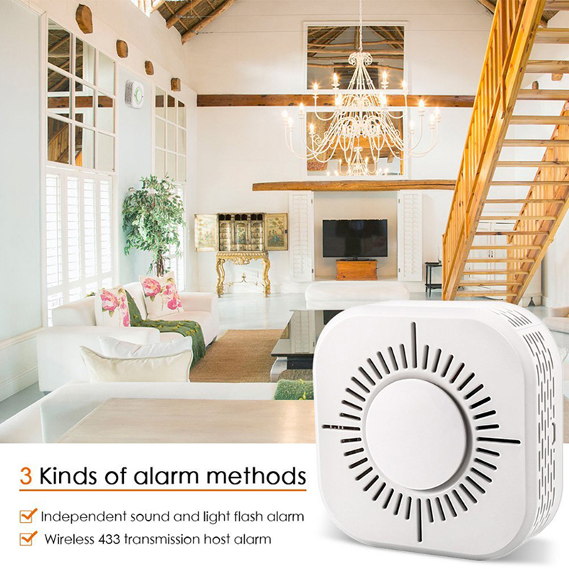 Smoke Detector Fire Alarm Sensitive Stable Independent Alarm Smoke Detector Home Security Wireless Alarm Sensor Fire Equipment in Smoke Detector from Security Protection