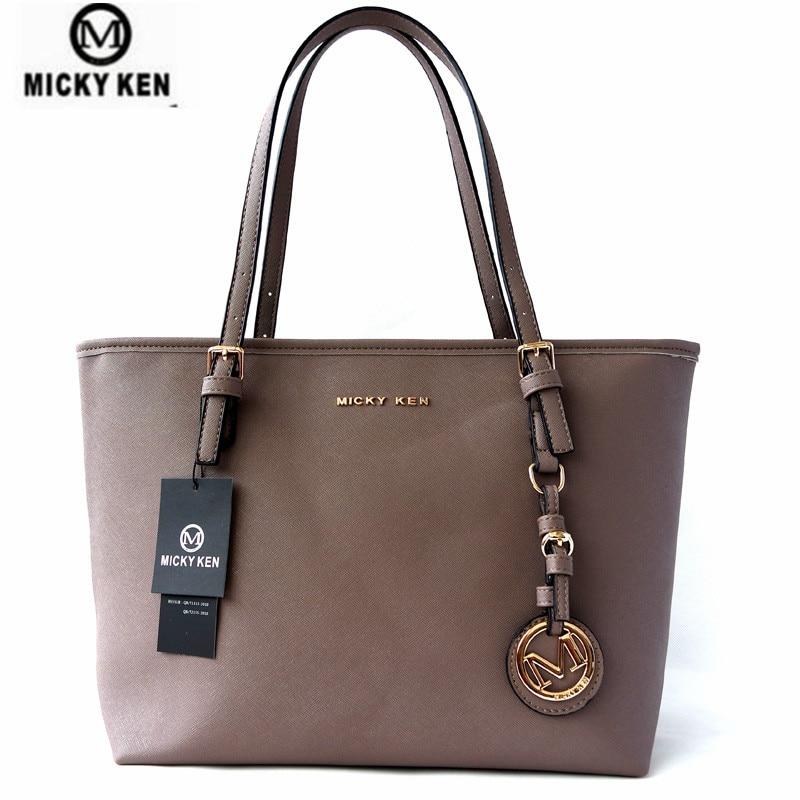 Micky Ken Brand New2019 Women Handbags Big Pu Leather Quality Letter Female Bag Designer Bolsos Mujer Sac A Main Totes 6821(China)