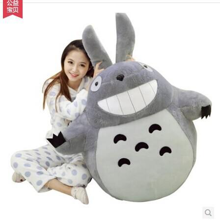 anime totoro PP cotton filling plush Toy huge 125cm toy throw pillow , Christmas gift w8800 lovely panda in pink dress big 90cm plush toy panda doll soft throw pillow proposal birthday gift x030
