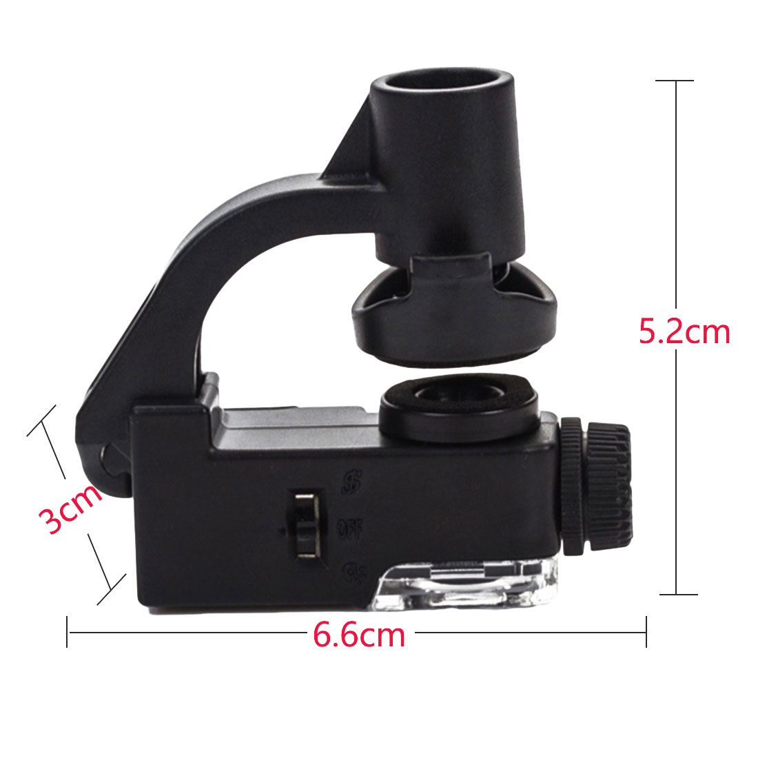 60X-100X UV LED Cellphone Clip Pocket Zoom Jewelry Magnifier Loupe Microscope UK