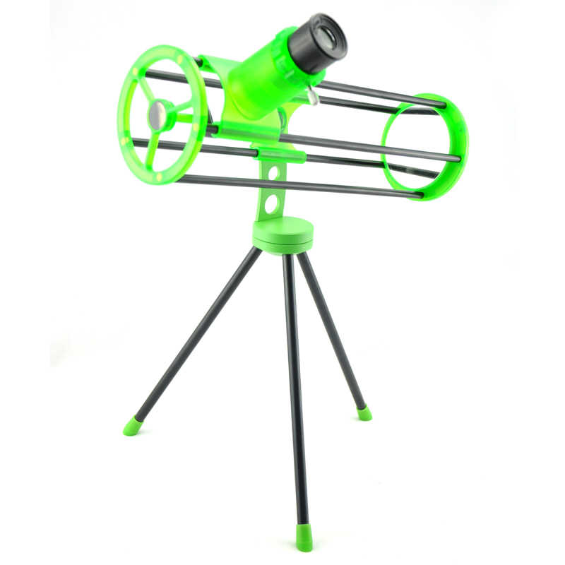 تليسكوب فضائي من Visionking طراز 76300 (76/300 مللي متر) تلسكوب فلكي عاكس نيوتوني أخضر 3 بوصة هدية للأطفال المبتدئين