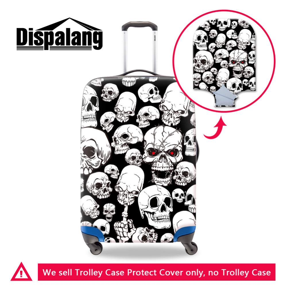 Cool Skull Painting Luggage Protective Covers For 18 To 30 Inch Case,Dustproof Waterproof Elastic Cover Travel Accessories