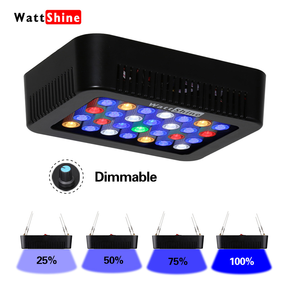 Marine Aquarium Coral 140W Led Aquarium Lighting Fixtures Dimmable Lamp Fish Aquatic Tank Lamp Dimmer Control Aquatic Plant Pots