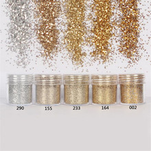 Superfine glitter gradient nail polish kit diamond light powder laser Sequin Epoxy decorative Nail art silver golden color