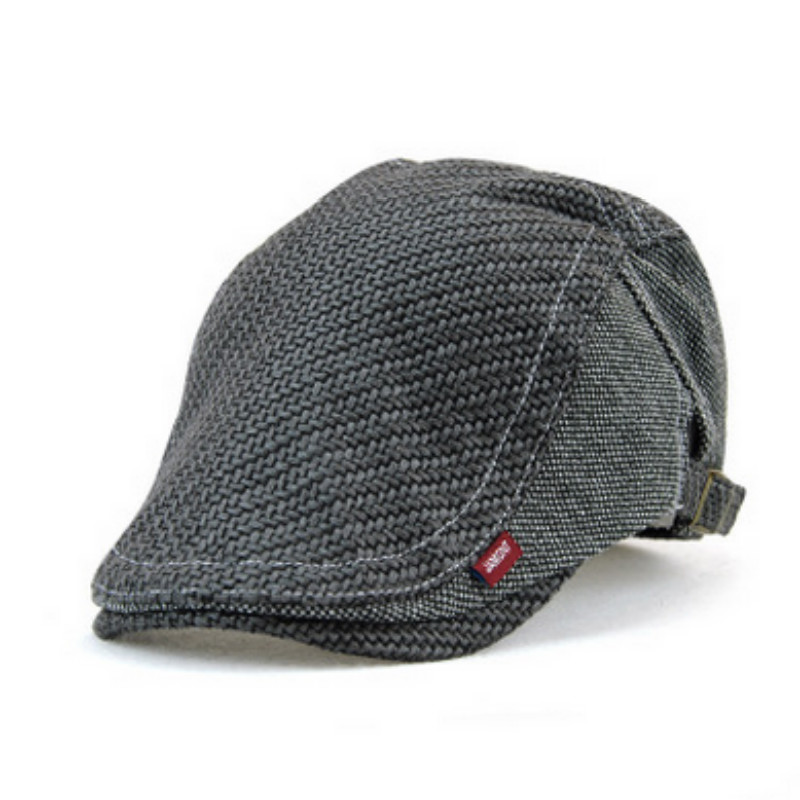 a11dc73bdb01b JAMONT Solid Color Old Man Knitted Berets Hat Thicken Duckbill Flat Bone  Gorras Grandfather Visor Cap Dad Peaked Newsboy Hat-in Berets from Apparel  ...