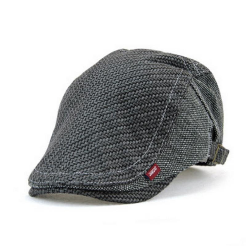 52f1218f1fc56 Velho malha boinas chapéu jamont cor sólida engrosse bico de pato plana  osso gorras chapéu repicado jornaleiro visor cap pai avô em Boinas de  Acessórios de ...