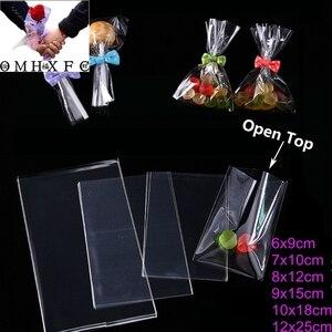 OMH 100 جهاز كمبيوتر شفاف مكشوفة صغيرة حقائب بلاستيكية لالحلوى مصاصة كوكي التعبئة والتغليف السيلوفان حقيبة BZ02-1