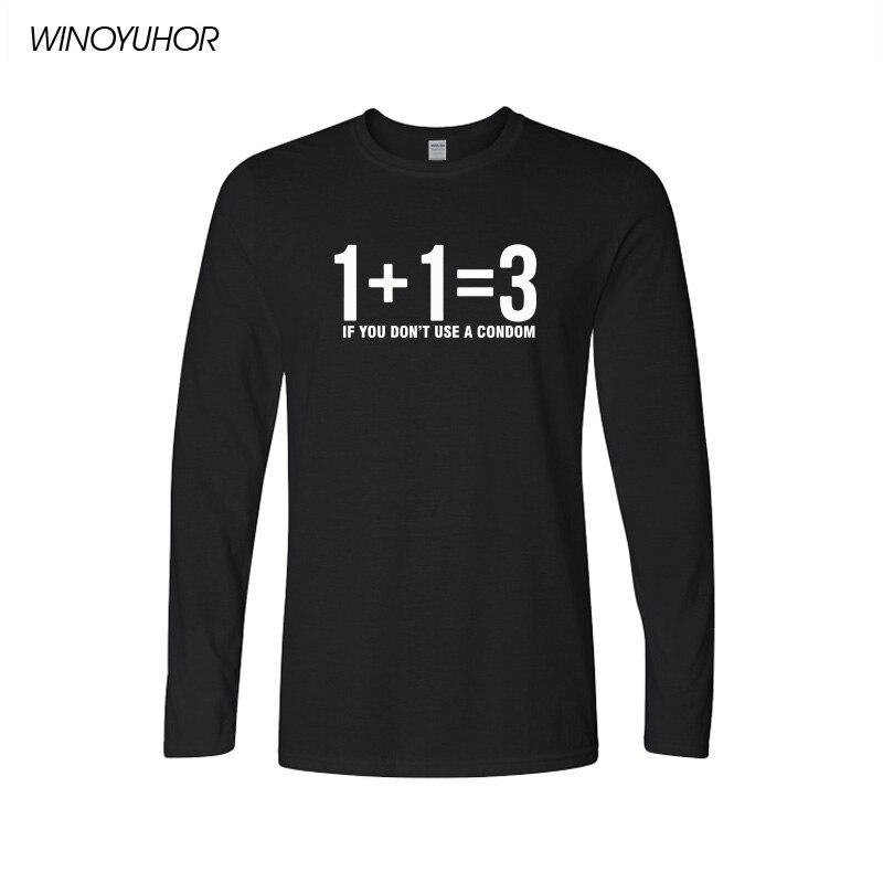 New Fashion Men   T     Shirt   Novetly Mathematical Formula Printed   T  -  Shirt   Men's Long Sleeve O-Neck   T  -  Shirts   Funny Math Streetwear