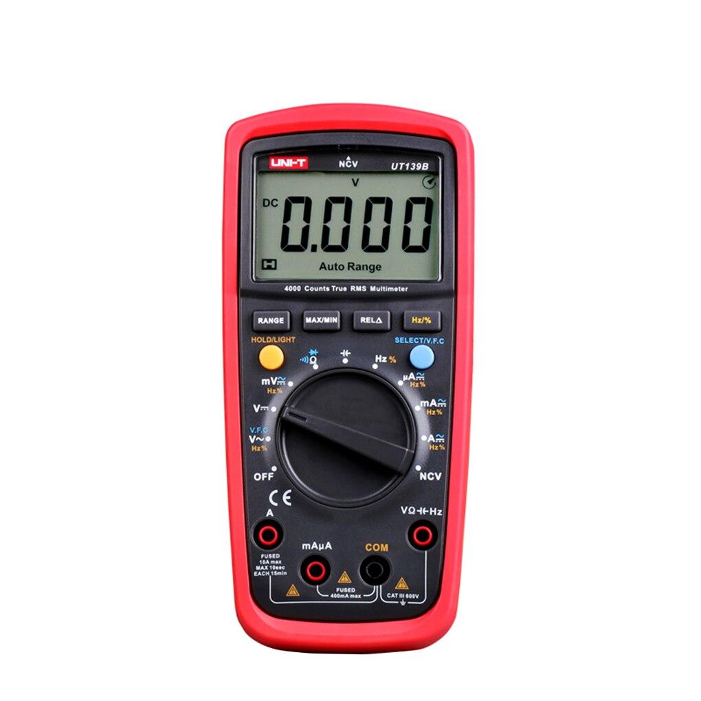 UNI-T UT139B Digital Multimeters RMS Electrical Handheld Testers Multimetro LCR Meters Ammeter Multitester uni t ut139c true rms digital multimeter handheld electrical lcr voltage current meter tester multimetro ammeter multitester