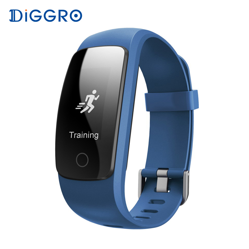 Diggro Smart Band Bracelet ID107Plus HR Heart Rate Bracelet Monitor Wristband Health Fitness Tracker For Android iOS VS MI Band