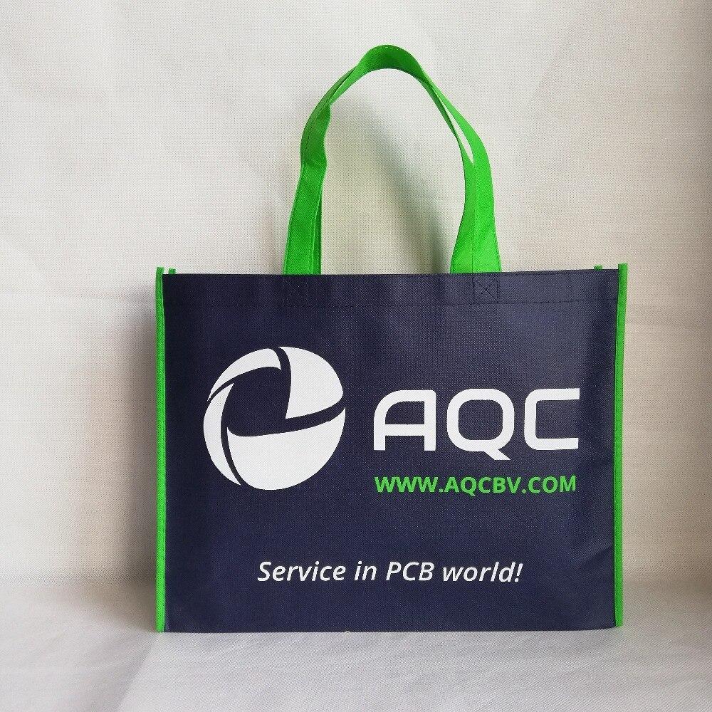 500pcs lot Foldable Shopping Bag Reusable Eco Fabric Non woven Bags Tote Clothes Bags Shoulder Pouch