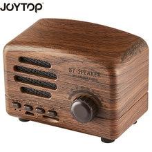 hot deal buy joytop new vintage bluetooth speaker wireless portable mini  speakers tf card fm radio for phones speakers computers bluetooth