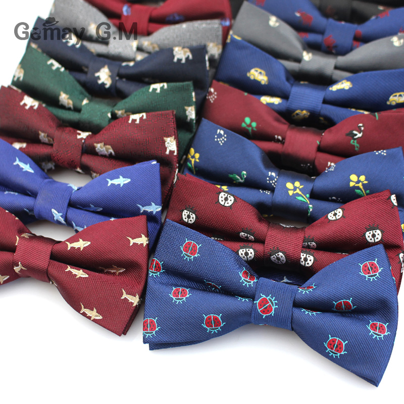 Formal Business Suit Bow Ties For Men Polyester Animal Cravats Fashion Adjustable Bowtie For Wedding Party Groom Butterfly