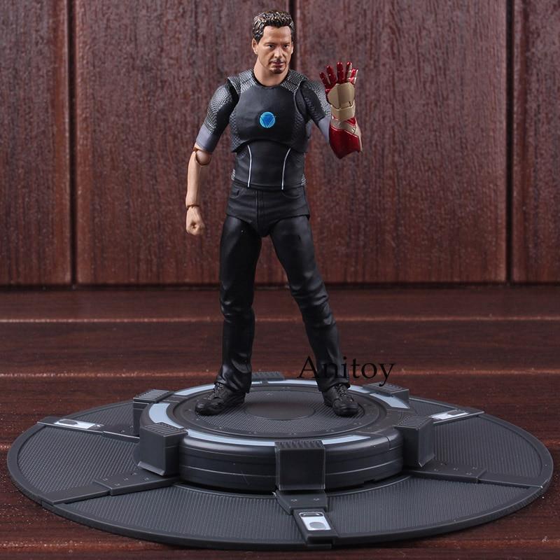 SHFiguarts Железный человек Тони Старк с Тони Powerd стадии ПВХ Marvel Heroes Игрушки Железный человек Коллекционная модель игрушки