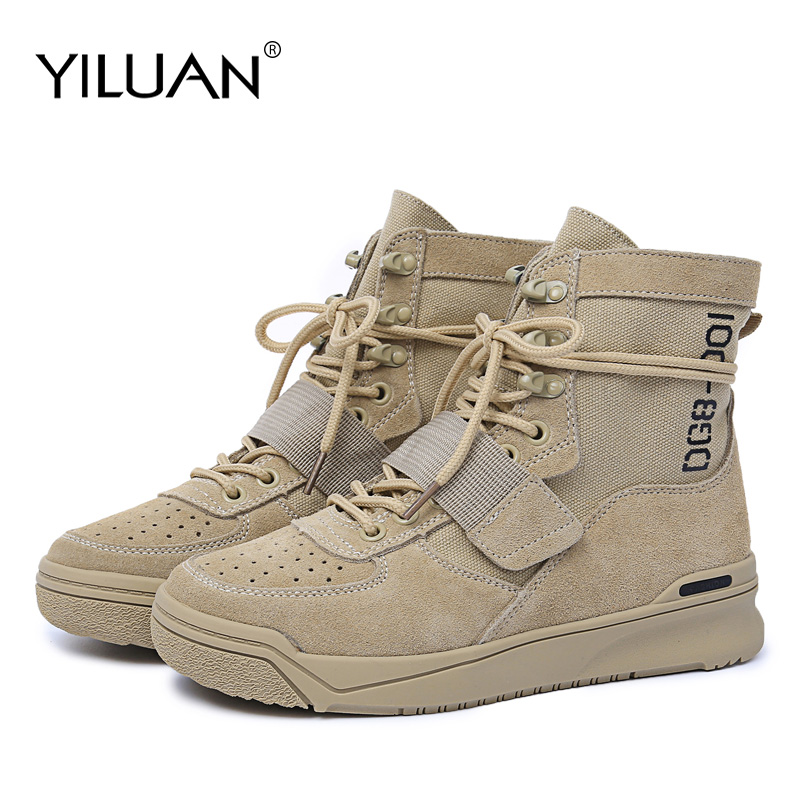 Yiluan marque 2019 automne nouveau cuir Martin bottes femmes britannique vent moto bottes désert dames bottes militaires